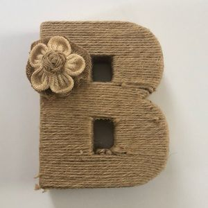 Cute jute covered initial B